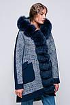Зимовий молодіжне пальто парку з капюшоном і хутром песця Vam 579, фото 2