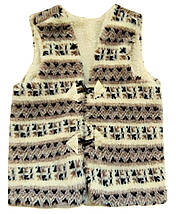 Теплая жилетка из овчины орнамент Размер 48-50, фото 3