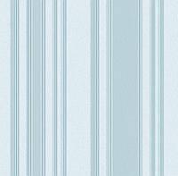Обои плотные бумажные  0,53*10,05 Эко полоса голубая