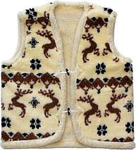 Меховая двойная жилетка из овчины Олени Размер 52, фото 3