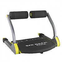 Многофункциональный напольный фитнес-тренажер для пресса для дома GymBit Six Pack Care 6-в-1 Черный