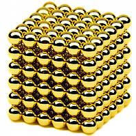 Неокуб в боксе головоломка конструктор Neocube Магнитные шарики 5мм Золотой