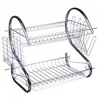 Настольная сушка для посуды с поддоном 2 яруса A-Plus 1154