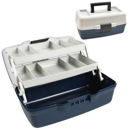 Ящик кейс рыболовный для снастей Stenson AQT-1702 30.5x18.5x15см 2 яруса