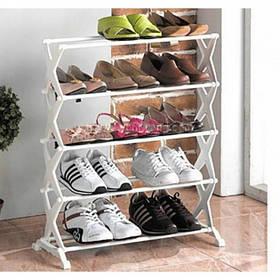 Стійка підставка органайзер для зберігання взуття Shoe Rack 5 полиць на 15 пар взуття