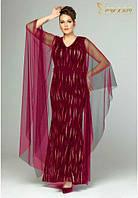 Красное вечернее платье со шлейфом большого размера, Турция Luxso