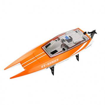 Катер FT016 ( FT016(Orange) р/у2,4G, аккум, 46см, USBзар, в кор-ке, 49,5-20-18,5см), Оригинал
