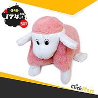 Подушка-игрушка Барашек Шон  Размер 28х28 см розовый