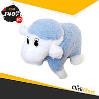 Подушка-игрушка Барашек Шон  Размер 28х28 см голубой