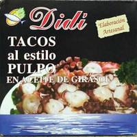 Осьминог в подсолнечном масле Tacos en aceite de girasol  Didi 266г Испания