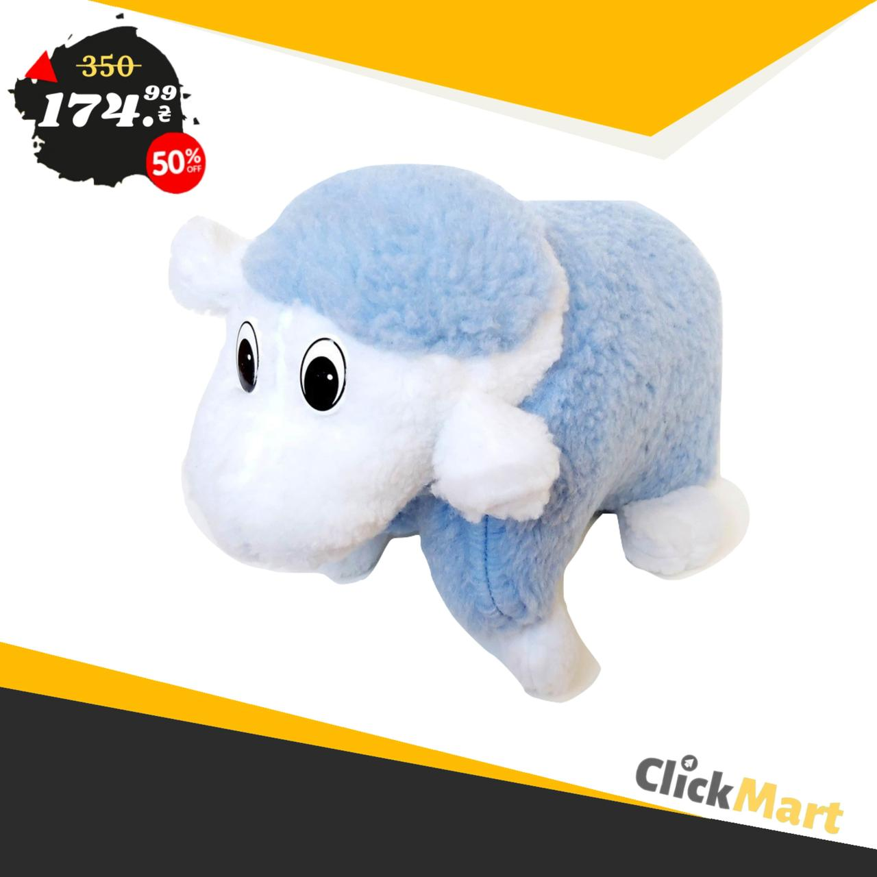 Подушка-игрушка Барашек Шон  Размер 43х34 см голубой