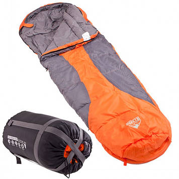 Bestway Спальный мешок 68049 ( 68049(Orange) Оранжевый 230-80-55см, застежка-молния,сумка), Оригинал