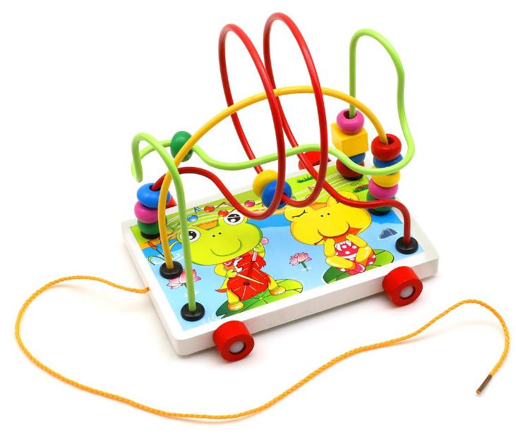 Деревянная игрушка Каталка MD 0320 (Лягушка), Оригинал