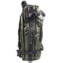 Рюкзак-сумка дорожня для подорожей KAKA 2050 D Green з кодовим замком дихаючої спинкою багато відділень, фото 2