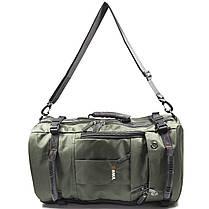 Рюкзак-сумка дорожня для подорожей KAKA 2050 D Green з кодовим замком дихаючої спинкою багато відділень, фото 3