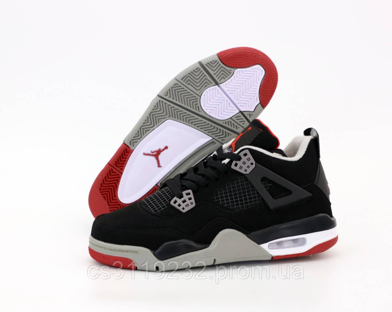 Мужские кроссовки Nike Air Jordan Black Red (черные)