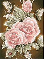 Алмазная живопись Розовая страсть, размер 30*40 см, забивка полная, стразы квадратные, фото 1