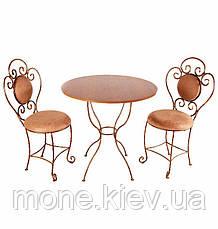 Кований стул с мягко спинкой и сидушкой Грация, фото 3