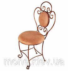 Кований стілець з м'яко спинкою і сидушкою Грація, фото 2
