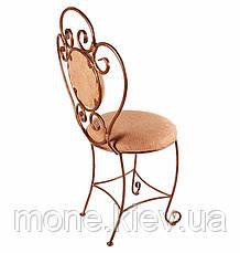 Кований стілець з м'яко спинкою і сидушкою Грація, фото 3