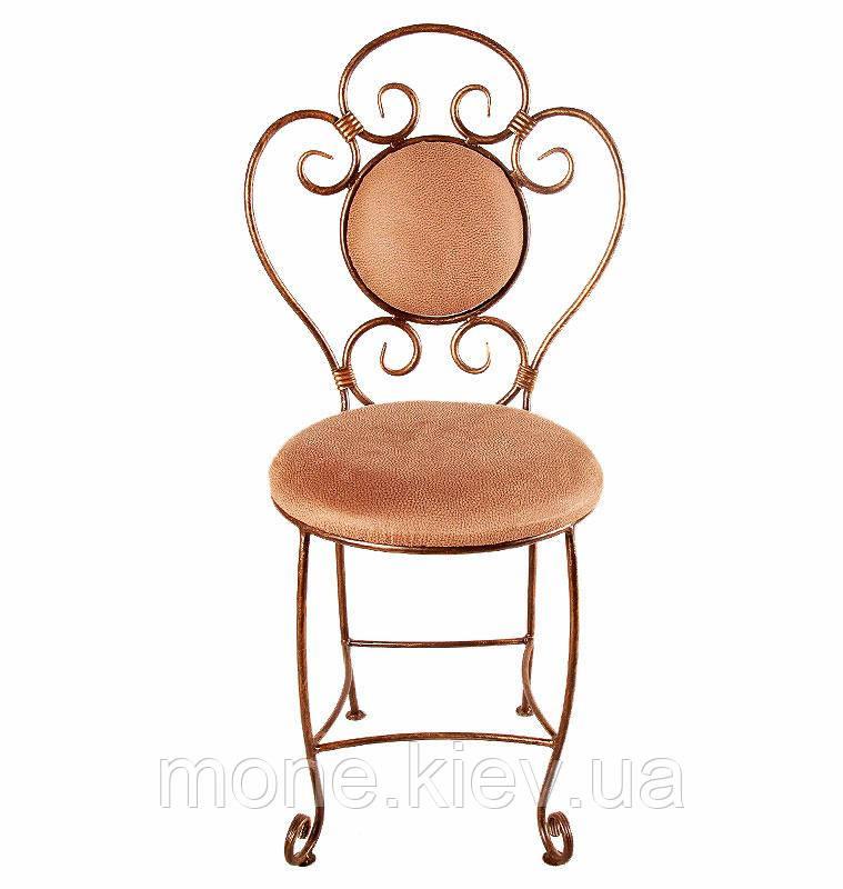 Кований стілець з м'яко спинкою і сидушкою Грація
