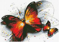Алмазная живопись Огненная бабочка, размер 40*30 см, забивка полная, стразы квадратные