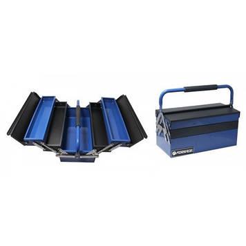 Ящик инструментальный складной на 5 отделений прорезиненной накладкой на ручку (420х210х210мм, 400х95х45мм-4шт