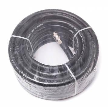 Шланг резиновый воздушный армированный с фитингами 6*12мм*10м