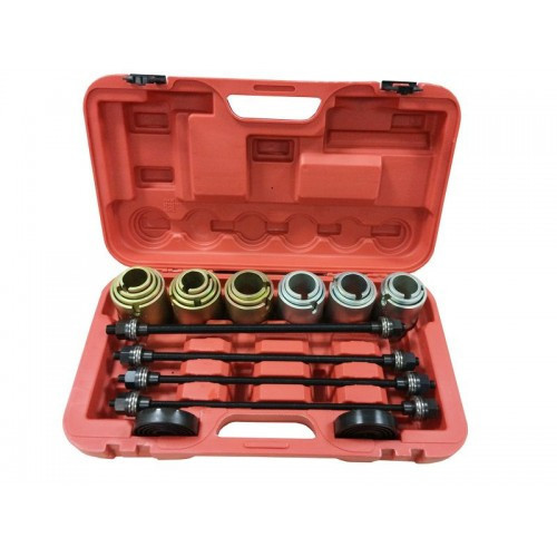 Комплект для снятия и установки втулок, подшипников и сайлентблоков универсальный, 26пр. (М10, М12, М14, М16) в кейсе