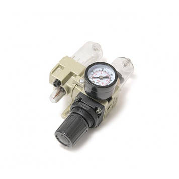 Блок подготовки воздуха мини  для пневмосистемы (фильтр-регулятор + лубрикатор)