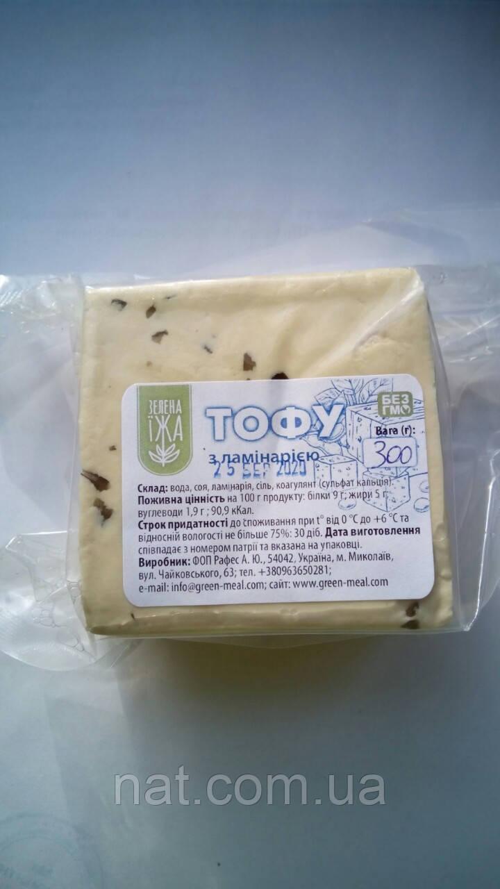 Сыр тофу с ламинарией ТМ Зелена Їжа, 300г