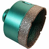 Коронка алмазная (сверло) по плитке, керамограниту 68 мм x M14 Kona Flex Vacuum