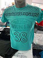 Футболки мужские, цветные хлопковые футболки производства Турции