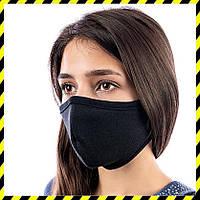 Защитная маска на лицо многоразовая Silenta Woman, Черная, фото 1