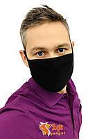 Маска на обличчя захисна багаторазова Silenta Man, Чорний, фото 1