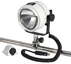 Прожектор для лодки катера OSCULATI Night Eye и  креплением на носовой релинг