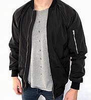 Куртка бомбер черный мужской плащовка, производитель Украина.