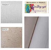 Полотно грунтоване в рулонах бавовна,дрібне зерно(бязь),колір білий,розмір 1.55 х12.85