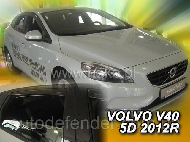 Дефлектори вікон (вставні!) вітровики Volvo V40 2012-2020 4шт., HEKO, 31238