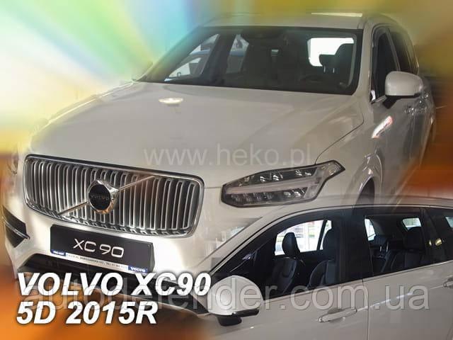 Дефлекторы окон (вставные!) ветровики Volvo XC90 II 2015-2022 4шт., HEKO, 31240