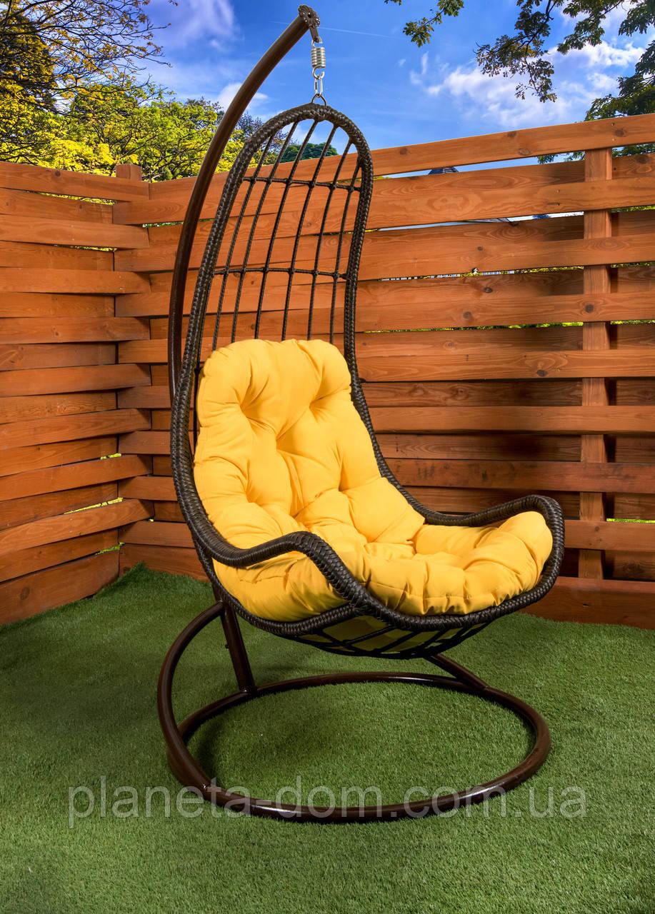 """Подвесное кресло-кокон """"Легато"""" коричневое"""