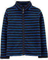 Флісова кофта, светр, реглан поддева для хлопчика OshKosh Синя в смужку