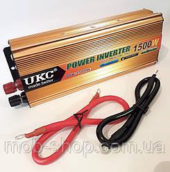 Преобразователь напряжения инвертор UKC 1500W 24V в 220V AC/DC для грузовиков фур