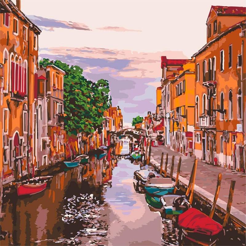 """Картина по номерам """"Венецианский вечер"""" 40*40 см КНО3571 Идейка"""