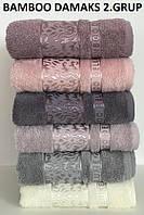 Набор бамбуковых полотенец CESTEPE BANBU DAMAKS 2 GRU(для Лица 50х90см или Банное 70х140 см) Турция