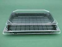 Упаковка для суши ПС-64Д 20,5*13,5 вместе с крышкой ПС64К (50 шт)