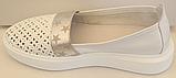 Мокасины женские кожаные от производителя модель ЛИ126, фото 2
