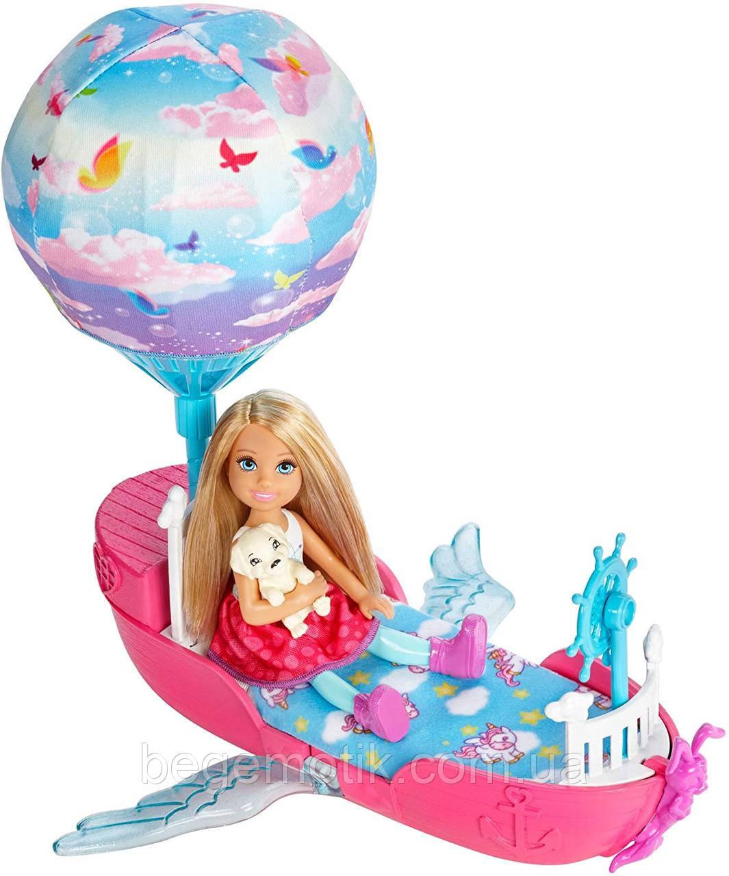 Barbie Кукла Челси и ее магическая летающая лодочка серии Дримтопия Dreamtopia Magical Dream boat and Chelsea