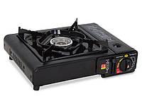 Портативная газовая плита TIGER BSZ-155-A двойного действия с адаптером в кейсе R16856 gr006848, КОД: 110285