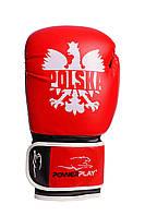 Боксерські рукавички PowerPlay 3021-1 Poland 8 унцій Червоно-чорні PP30211P8ozRedBlack, КОД: 1597626